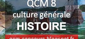Quiz histoire, questions, culture générale, exercices, qcm, corrigés