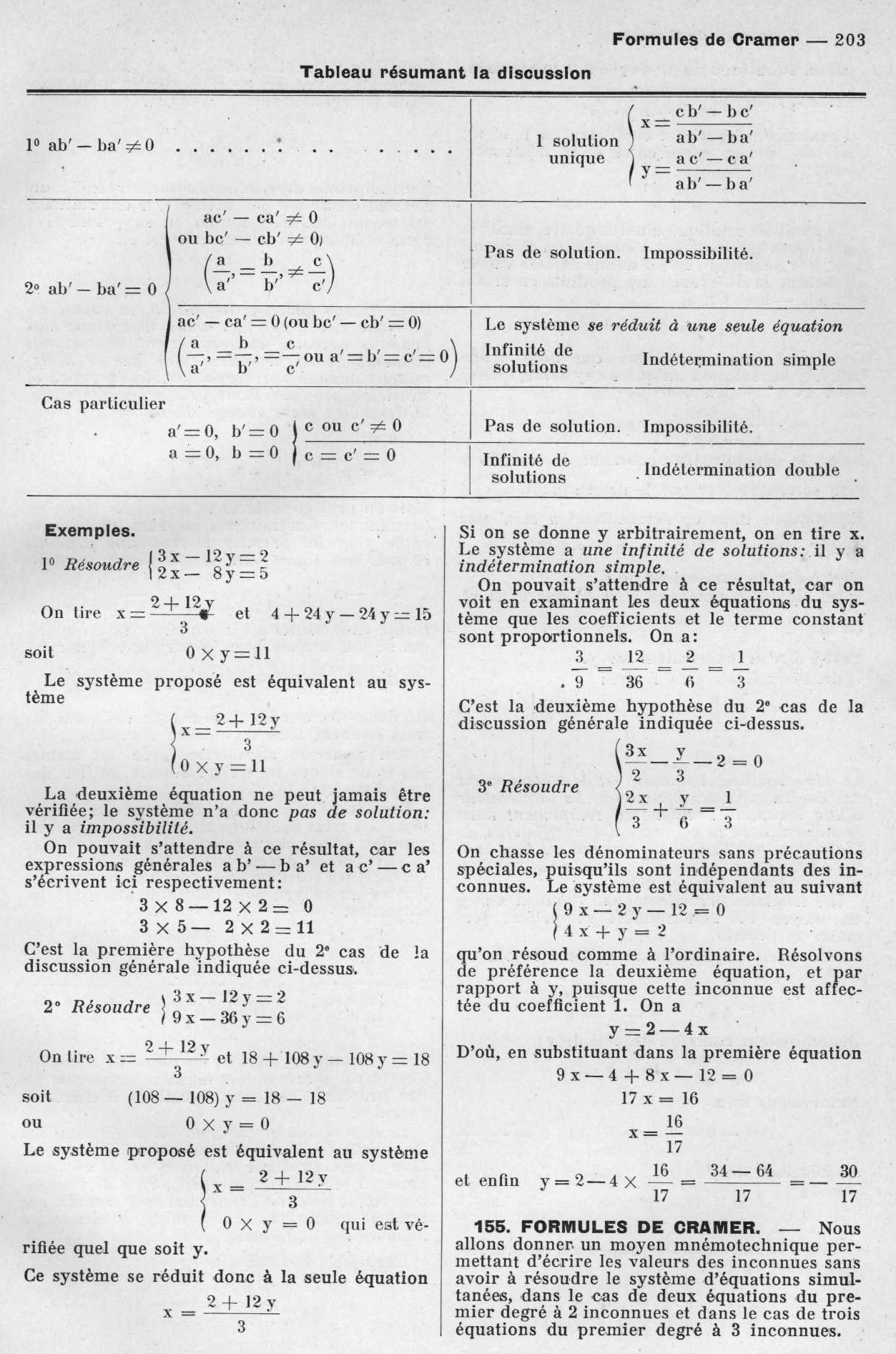 équations premier degré