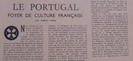 LE PORTUGAL FOYER DE CULTURE FRANCAISE PAR ROBERT LANGE (1953)