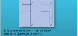Test psychotechnique : Test logique – Volumes des cube & fractions