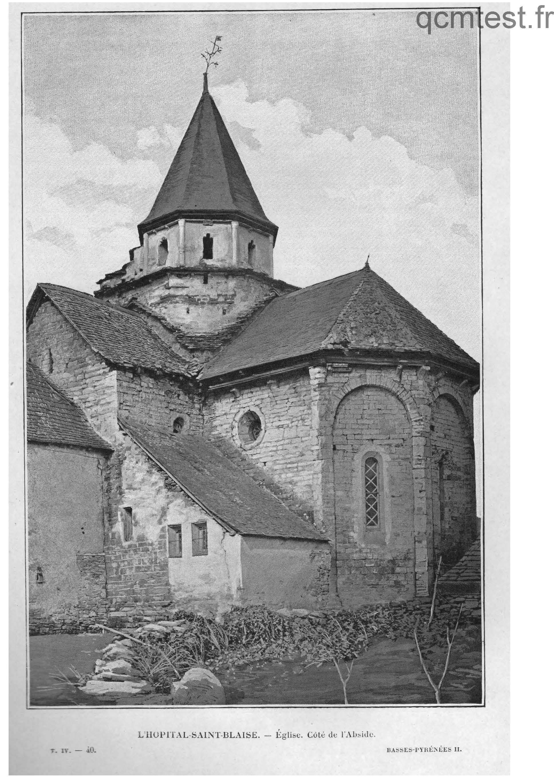 Eglise. Côté de l'abside