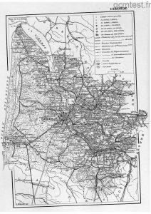 Carte de la Gironde-1903