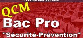 """QCM Bac professionnel """"Sécurité-Prévention"""" CONCOURS NATIONAL DE GARDIEN DE LA PAIX DE LA POLICE NATIONALE"""
