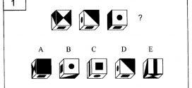 #1 Test des suites de rotation de cubes. Evaluation de la représentation spatiale. Test psychotechnique gratuits