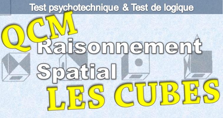 Test spatial et géométrique. Test psychotechnique, la suite de cubes, de qi gratuit.