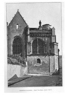 Fontenay-le-Cte. Eglise N. -D. Ensemble N.-E.