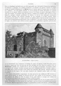 Boupère (Le) . Eglise fortifiée.