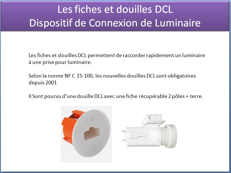 douille dcl dispositif de connexion de luminaire tests jeux ducatifs en ligne. Black Bedroom Furniture Sets. Home Design Ideas
