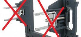 Norme NF C 15 – 100. Les Support pour fixation à griffes sont interdites.